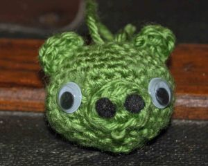 Green pig Christmas ornament 3