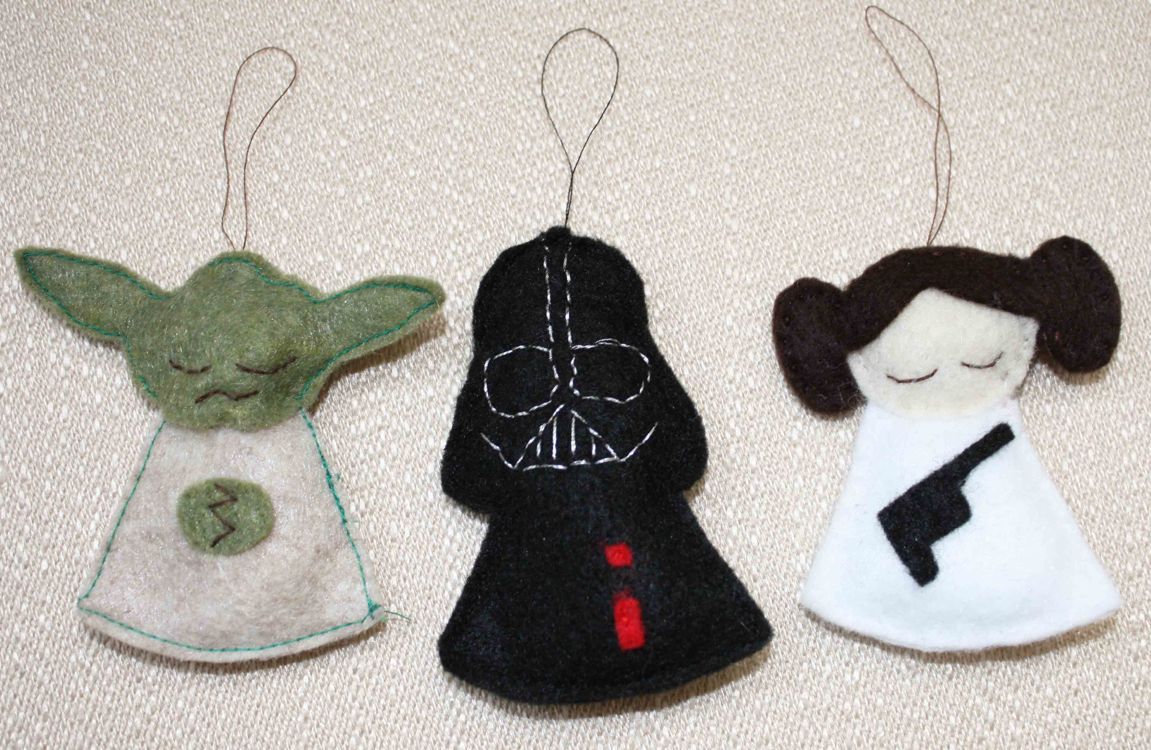 Diy Christmas Decorations Felt : Diy star wars christmas ornaments geekery