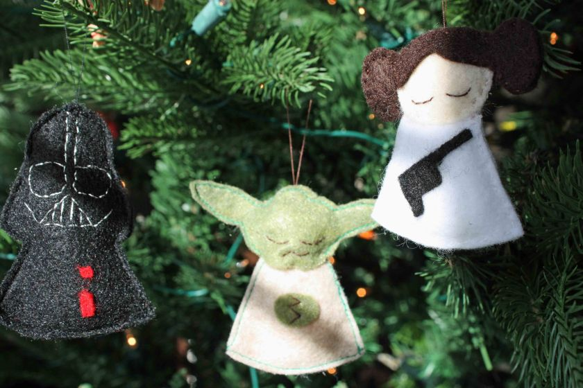 Star Wars felt ornaments 3