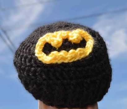 Batman baby beanie no ears