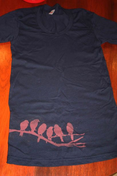 Bird bleach print tshirt