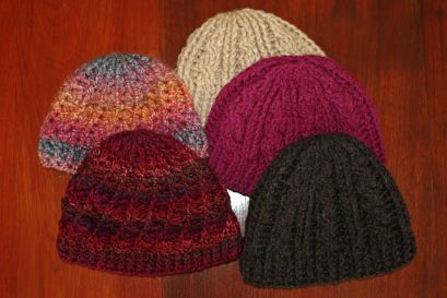 Crochet divine and cable hats