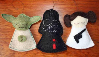Star Wars felt ornaments