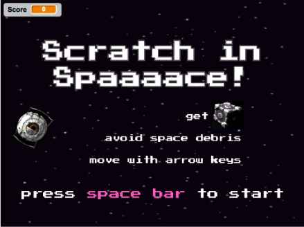 Scratch in space 1